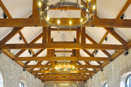 Wet rot found in the timber beams and trusses was removed, and the existing timbers repaired with reclaimed timber using a timber resin splice system, giving a seamless finish at Ballynahinch, Co. Down, NI