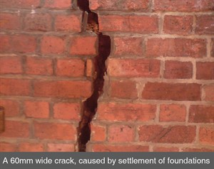 001 vertical crack in brick masonry settlement subsidence crack stitching belfast dublin northern ireland NI copy