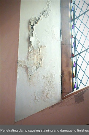 penetrating damp newlath northern ireland NI p-r