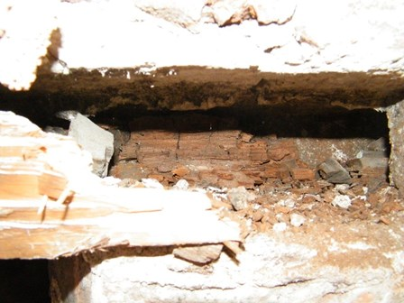 Dry Rot, Londonderry.  Embedded joists were found to have dry rot, NI