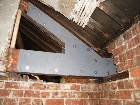 A truss plate was installed in the roofspace in Derry, Northern Ireland